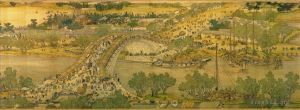 Along the River during the Qingming Festival - Chinese Treasure,  Traditional Chinese Painting in Hand Scroll Format