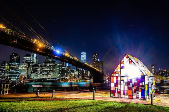 """Tom Fruin's """"Stained Glass House"""""""