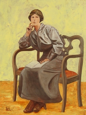 contemporary oil painting - Woman in an Armchair
