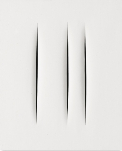 Lucio Fontana Won 2,590 Thousand Dollars with an Incised Blank Canvas