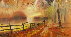 contemporary oil painting - Autumn Impression