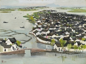 "Wu Guanzhong's Small Oil Painting ""Luxun's Hometown"" was Auctioned for 39.97 Million Hong Kong Dollars"