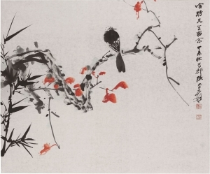 "The Hammer Price of Zhang Daqian's ""Red Leaves and Bird"" is 197 Thousand Dollars"