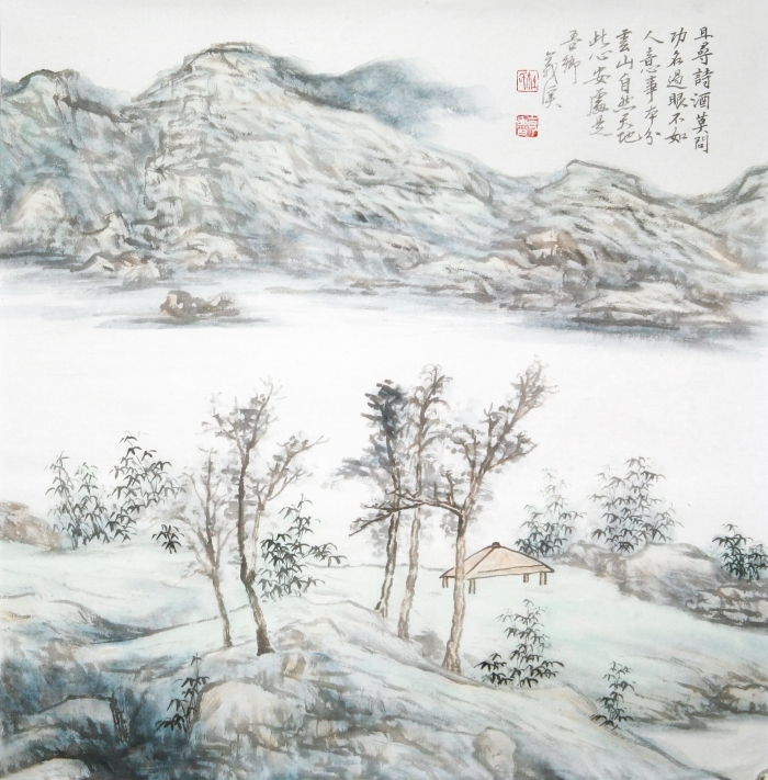 Hefeng Hall Gallery's Contemporary Chinese Painting - Chinese Doufang Landscape