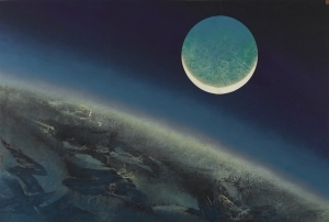 Liu Guosong's Blue Moon Landscape was Sold for 4.88 Million HongKong Dollars at Sotheby Auction