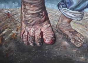 Contemporary Oil Painting - The Road Under Foot