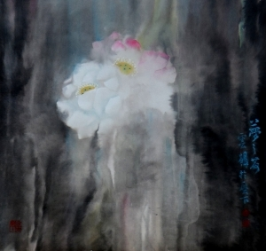 Contemporary Chinese Painting - Dreaming Lotus