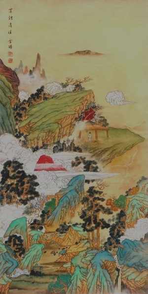 Contemporary Chinese Painting - Stream in Clouds