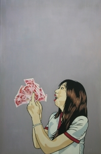 Contemporary Oil Painting - Madness for Money I