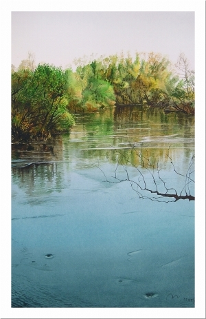 Contemporary Paintings - Spring flood