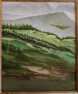 Contemporary Oil Painting - Nature Of Hills