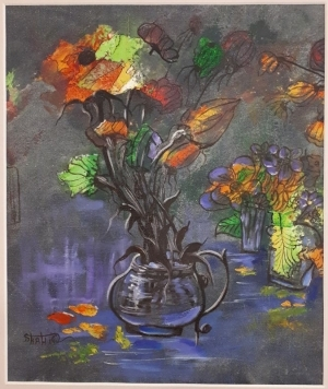 Contemporary Oil Painting - A Bouquet of Flowers III