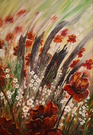 Contemporary Oil Painting - Poppies