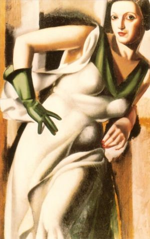 Woman with a green glove 1928