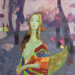 If I Smile As Bright As The Sea of Flowers Behind - Contemporary Various Paintings