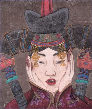 Woman of Mongolia Nationality - Contemporary Chinese Painting