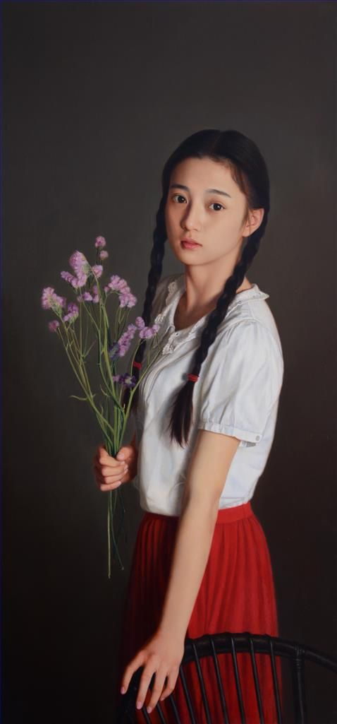 Yue Xiaoqing's Contemporary Oil Painting - 17 Years Old At That Time