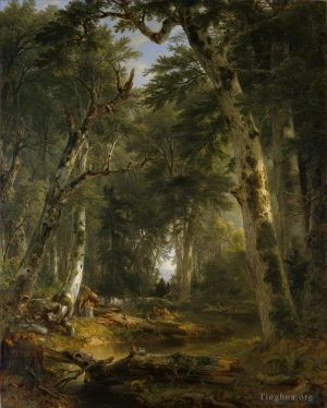 Antique Oil Painting - In The Woods