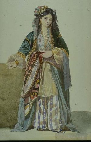 Antique Various Paintings - Turkish Woman Annetta Smyrna