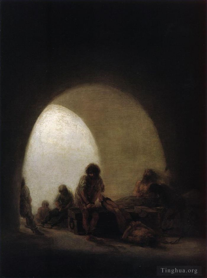 Francisco Goya Oil Painting - A Prison Scene