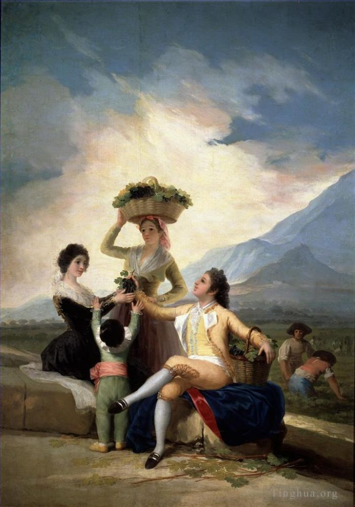 Francisco Goya Oil Painting - Autumn or The Grape Harvest