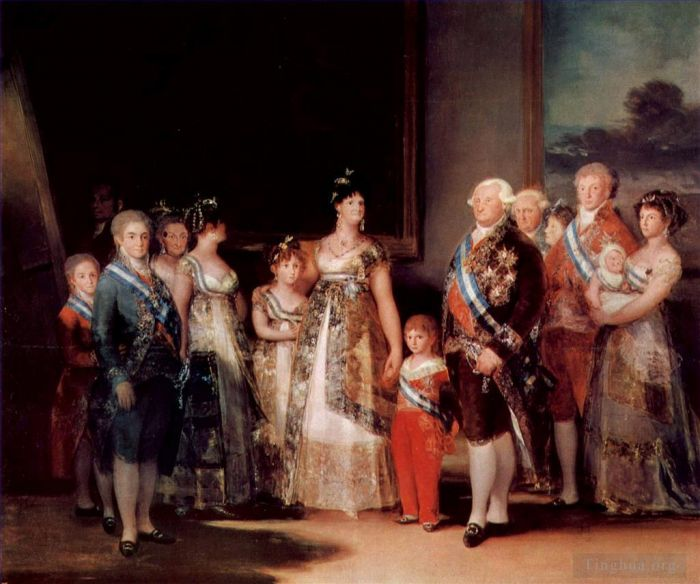 Francisco Goya Oil Painting - Charles IV of Spain and His Family