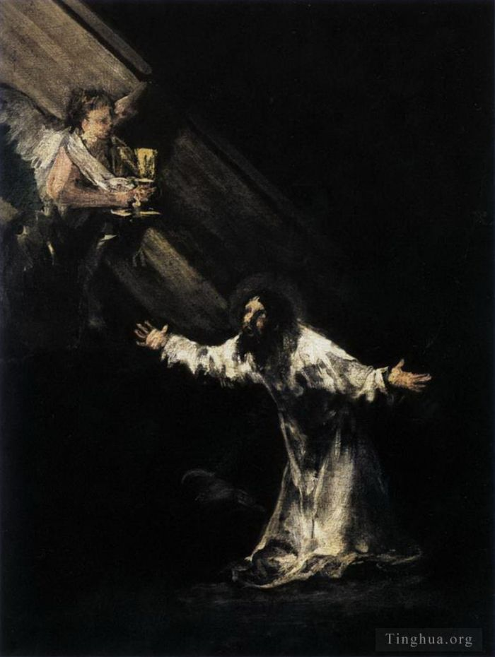 Francisco Goya Oil Painting - Christ on the Mount of Olives