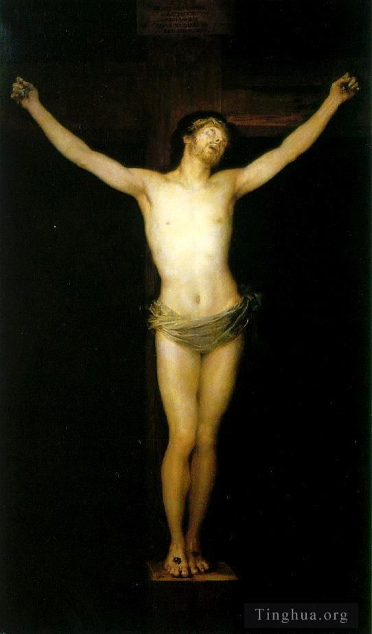 Francisco Goya Oil Painting - Crucified Christ