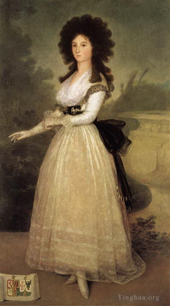 Francisco Goya Oil Painting - Dona Tadea Arias de Enriquez