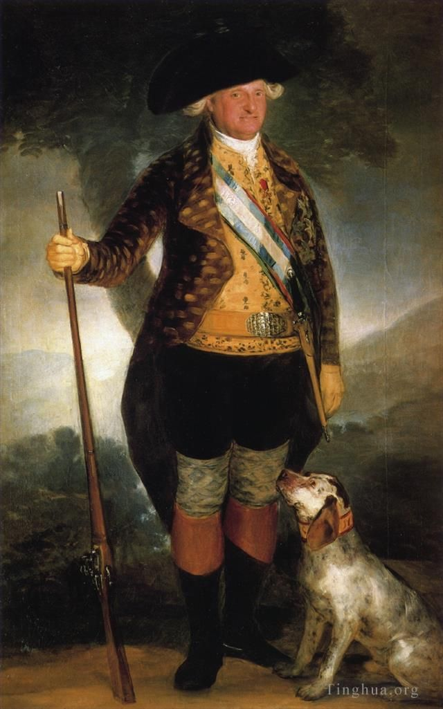 Francisco Goya Oil Painting - King Carlos IV in Hunting Costume