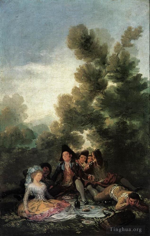 Francisco Goya Oil Painting - Picnic
