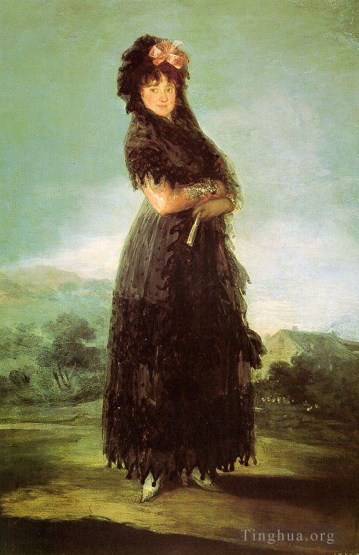 Francisco Goya Oil Painting - Portrait of Mariana Waldstein