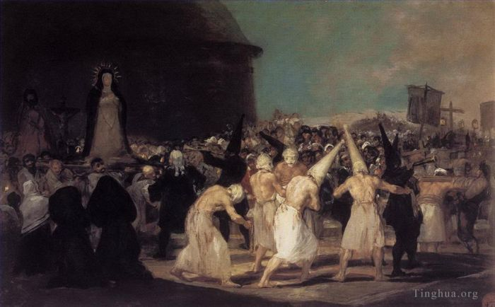 Francisco Goya Oil Painting - Procession of Flagellants