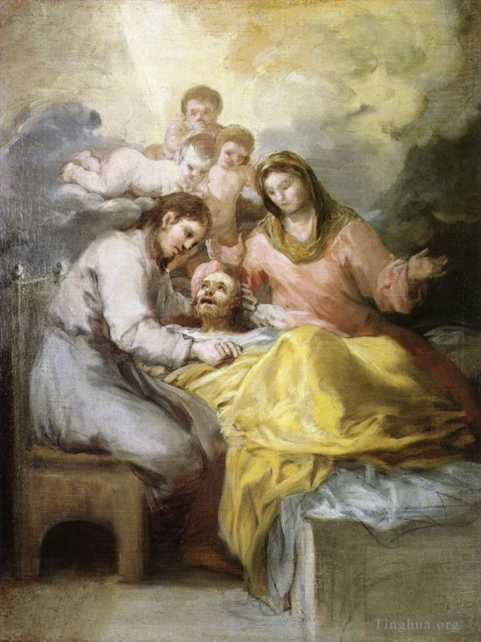 Francisco Goya Oil Painting - Sketch for The Death of Saint Joseph