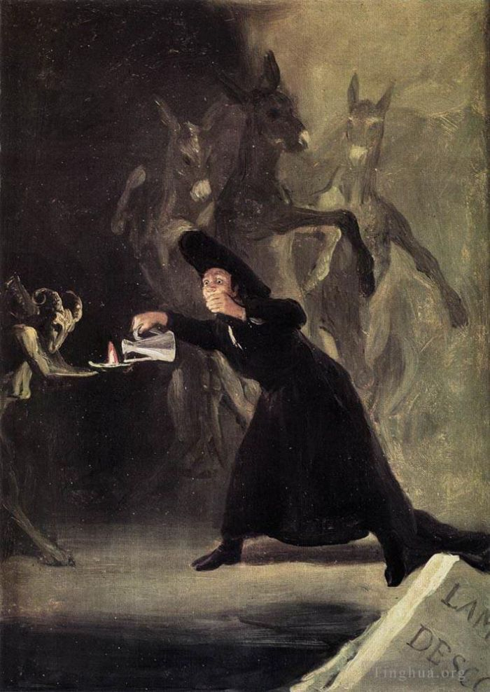 Francisco Goya Oil Painting - The Bewitched Man