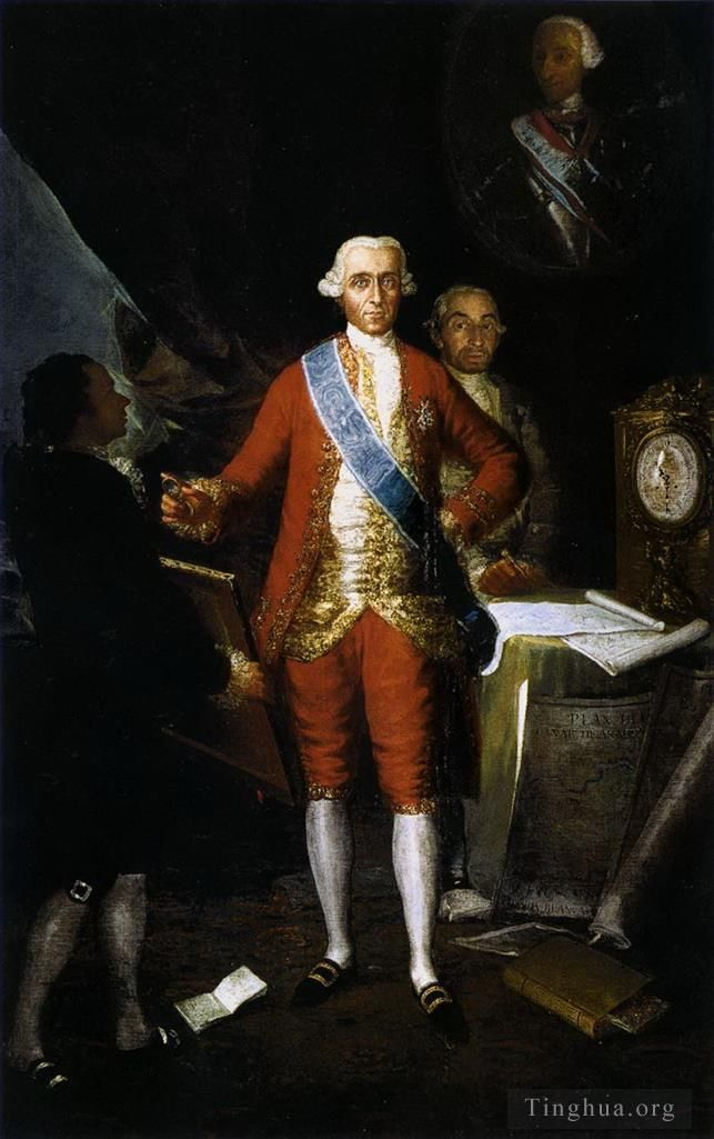 Francisco Goya Oil Painting - The Count of Floridablanca