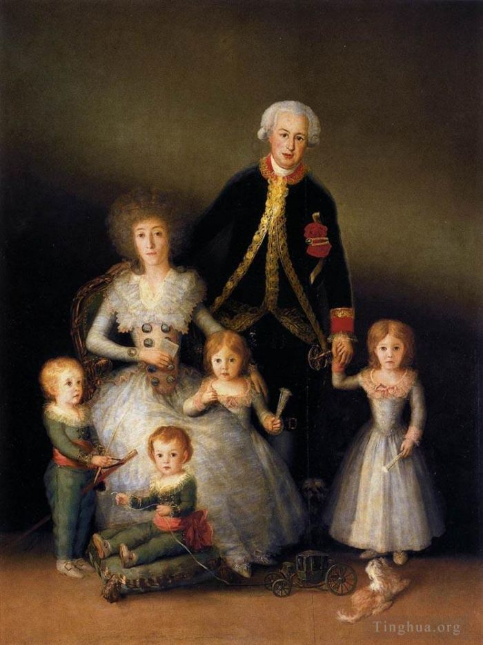 Francisco Goya Oil Painting - The Family of the Duke of Osuna