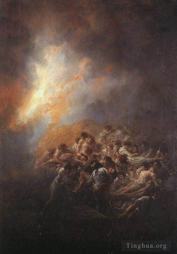 Francisco Goya Oil Painting - The Fire
