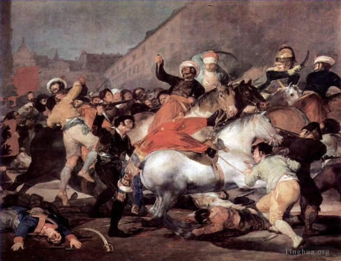 Francisco Goya Oil Painting - The Second of May 1808 (The Charge of the Mamelukes)