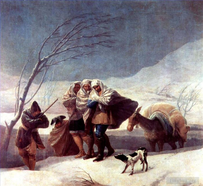 Francisco Goya Oil Painting - The Snowstorm