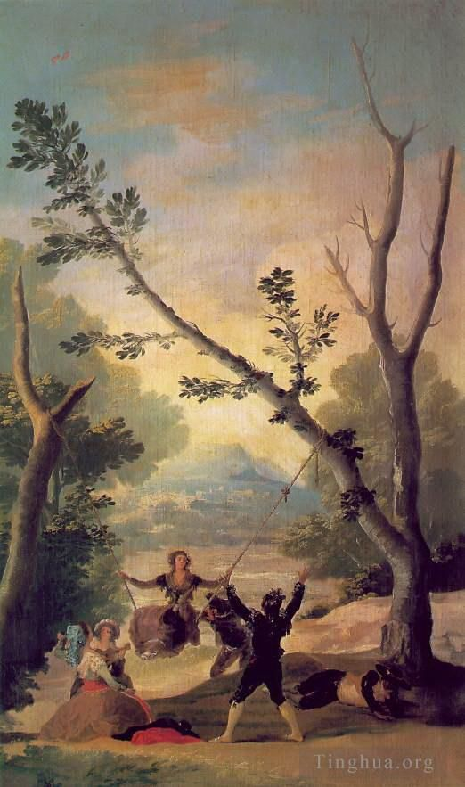 Francisco Goya Oil Painting - The Swing