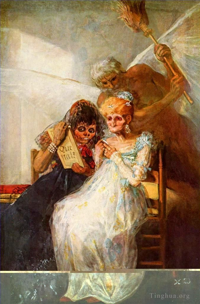 Francisco Goya Oil Painting - Time of the Old Women
