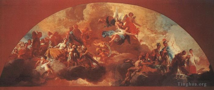 Francisco Goya Oil Painting - Virgin Mary as Queen of Martyrs