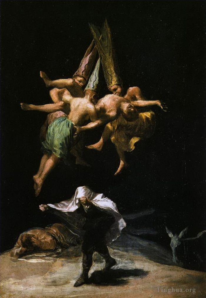 Francisco Goya Oil Painting - Witches in the Air