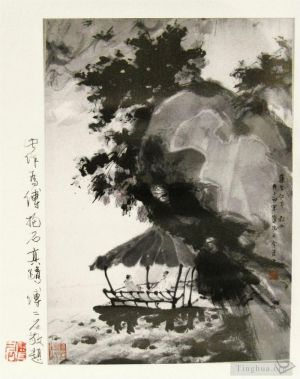 Antique Chinese Painting - Xi ting lun dao