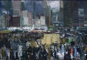 Antique Oil Painting - New York