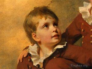 Antique Oil Painting - The Binning Children dt2