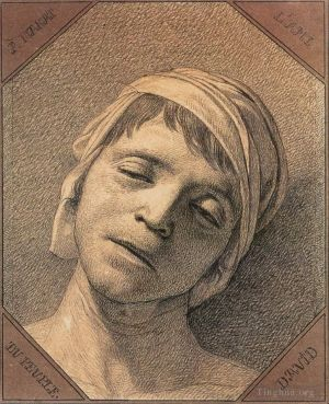 Antique Various Paintings - Head of the Dead Marat