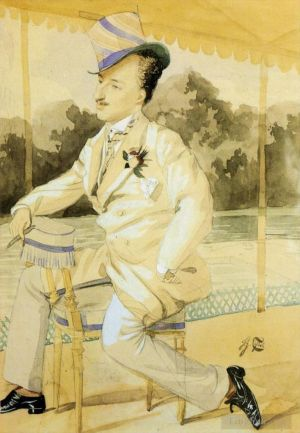 Antique Various Paintings - A Dandy