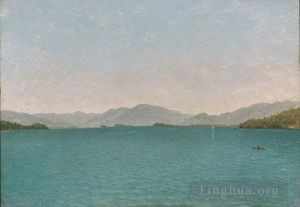 Antique Oil Painting - Lake George Free Study